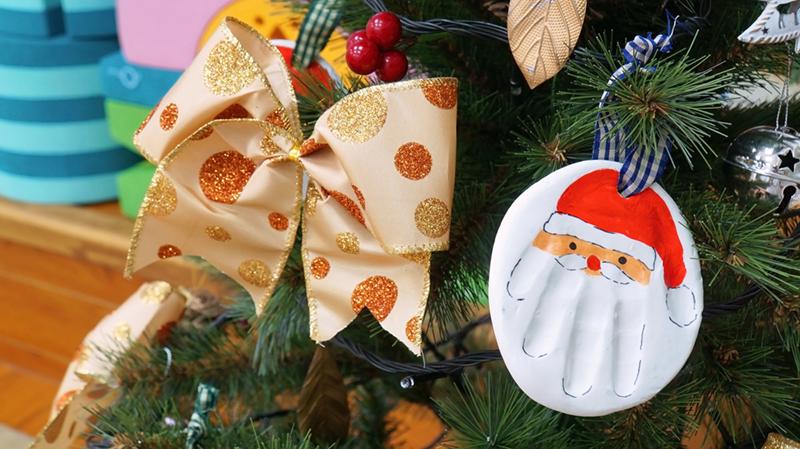 創意小手印聖誕老公公!